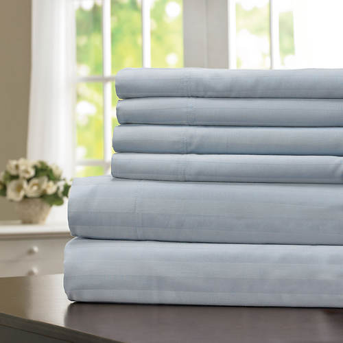 600-Thread Count Woven Stripe Sheet Set