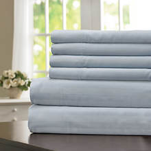 600-Thread Count Woven Stripe Sheet Set - Microchip