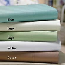 600-Thread Count Woven Stripe Sheet Set - Cocoa