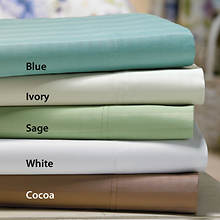 600-Thread Count Woven Stripe Sheet Set - Ivory