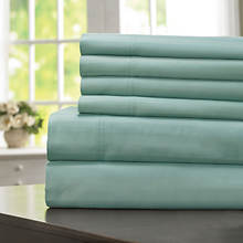 600-Thread Count Woven Stripe Sheet Set - Seaglass