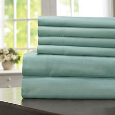600-Thread Count Woven Stripe Sheet Set - Seaglass