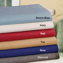 Fleece Sheet Set - Navy