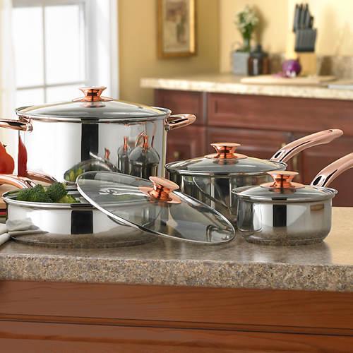 8-Pc. Ansonville Copper Cookware Set