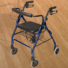 Lumex Wde 4-Wheel Rollator-Blue