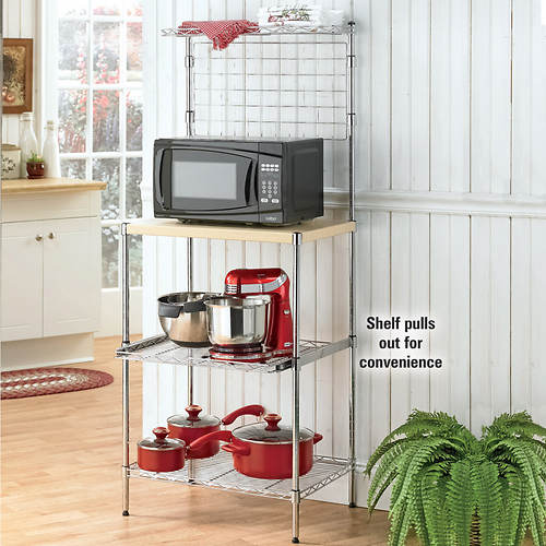 3-Shelf Microwave Bakers Rack