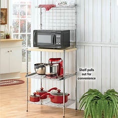 3-Shelf Microwave Bakers Rack