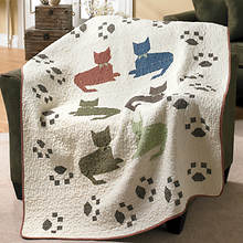 Meow Quilted Throw