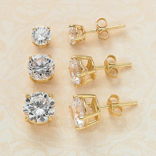 3-Pc. Cubic Zirconia Earring Set