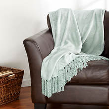 Danya Fringe Throw - Eucalyptus