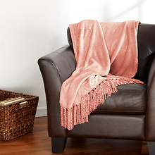 Danya Fringe Throw - Salmon