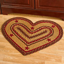 Heart Shaped Jute Braided Rug