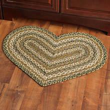 Heart Shaped Jute Braided Rug