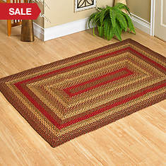 Jute Braided Rugs - 3' x 5' - Cinnamon