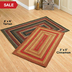 Jute Braided Rugs - 4' x 6' - Cinnamon
