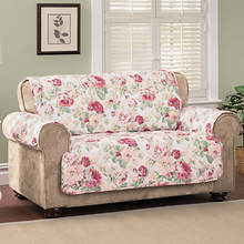 English Floral Furniture Protector - Sofa - Blue
