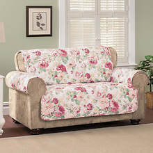English Floral Furniture Protector - Loveseat - Rose