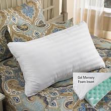 Gel Memory Foam Fiber Pillow