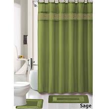 Greek Key 15-Pc. Bath Set - Sage