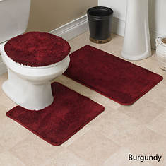 Hailey 3-Pc. Bath Set - Burgundy