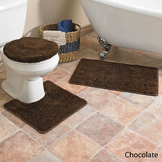 Hailey 3-Pc. Bath Set - Chocolate