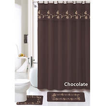 Beverly 15-Pc. Bath Set - Chocolate