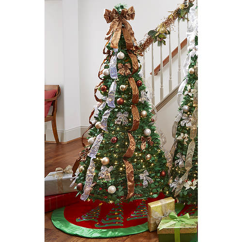 6 pop up pre litpre decorated tree - Pre Decorated Pop Up Christmas Trees