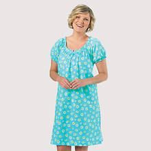 Cap Sleeve Nightgown - Blue