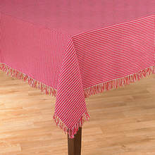 Homespun Table Linen - 52' x 70' - Red