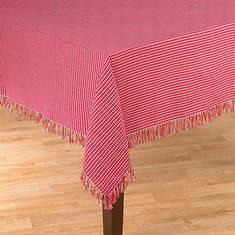 Homespun Table Linen - 52' x 70' - Red