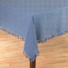 Homespun Table Linen - 52' x 70' - Blue