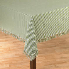 Homespun Table Linen - 52' x 70' - Green
