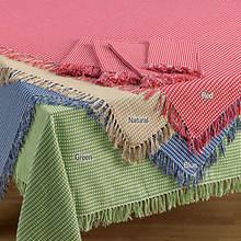 Homespun Table Linen - Round - Green