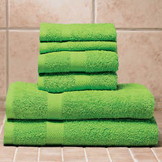 6-Pc. Bright Towel Set - Lime