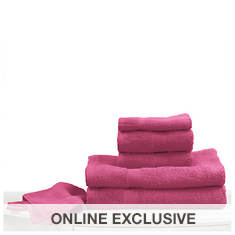 6-Pc. Bright Towel Set - Fuschia
