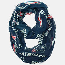 NFL Sheer Infinity Scarf - Patriots