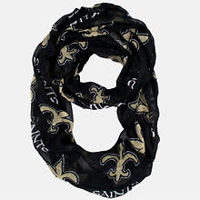 NFL Sheer Infinity Scarf - Saints