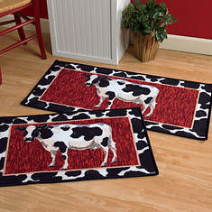 2-Pc. Kitchen Rug Set - Cows