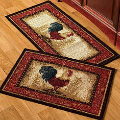 2-Pc. Kitchen Rug Set - Rooster
