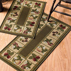 2-Pc. Kitchen Rug Set - Fruit Border