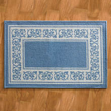 4-Pc. Floral Border Rug Set - Blue