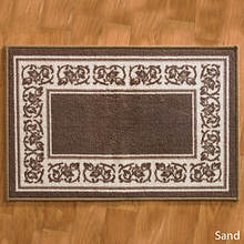 4-Pc. Floral Border Rug Set - Sand