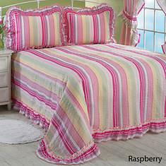 Striped Plisse Bedspread