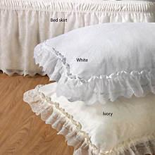 Wrap-Around Lace Sham - White