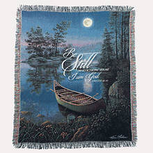Inspirational Tapestry Throw - Moonlit Bay