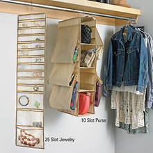 Hanging Organizer - 25 Slot Jewelry