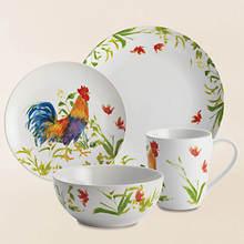 Meadow Rooster 16-Pc Dinnerware Set