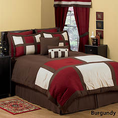 Miranda 8-Pc. Comforter Set - Burgundy