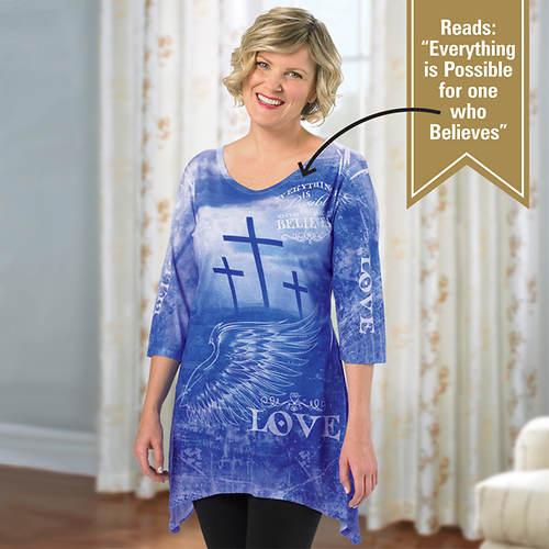 Ladies' Spring Design Artisan Tee Shirt - I Believe