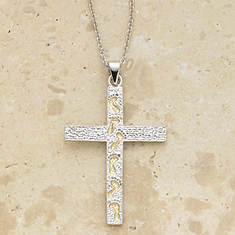 Footprints Cross Necklace